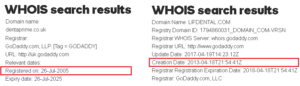 WHOIS dentaprime.co.uk and WHOIS lifdental.com
