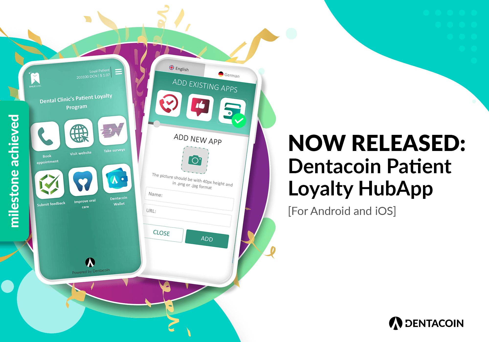 Dentacoin HUb app released2