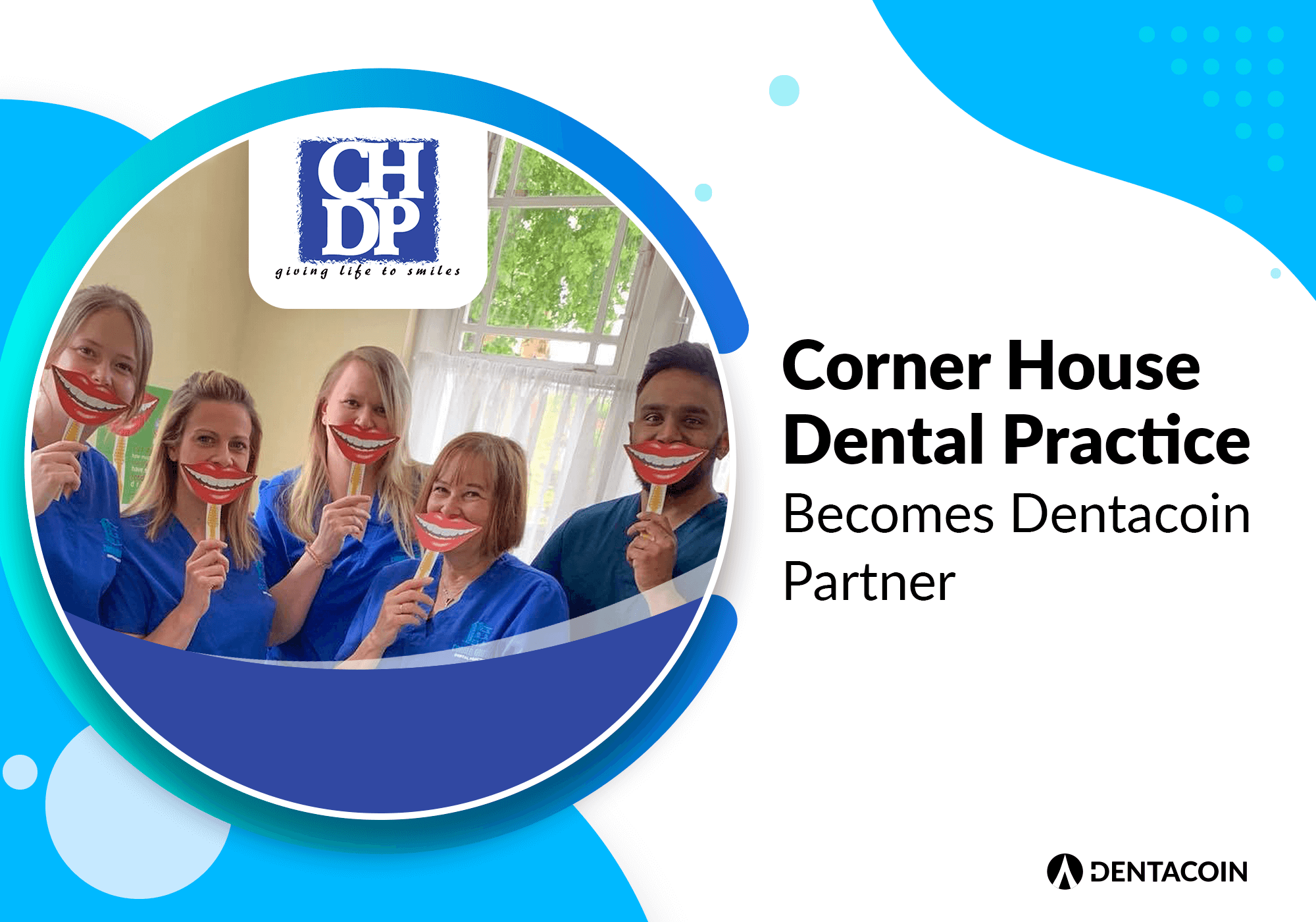 Corner house dental practice dentacoin partner